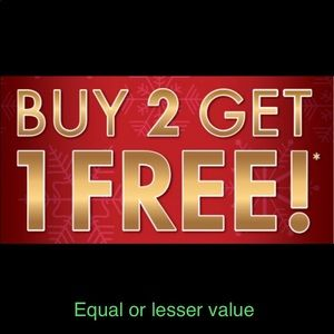 Buy 2 get one FREE 😀